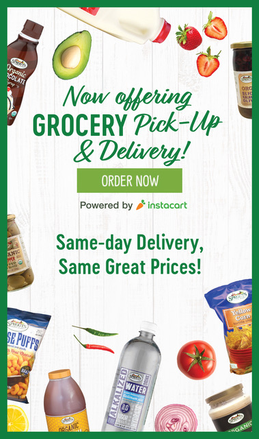Try our Grocery Delivery! Order Now Powered by instacart. Same-day Delivery, Same Great Prices!